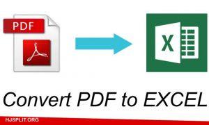 PDF ke Excel